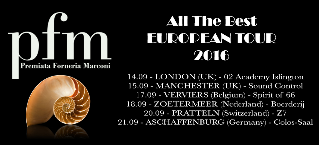 PFM European Tour 2016